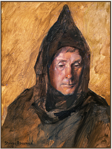 "Painting by Stanley Roseman, ""Dom Francis, Portrait of a Benedictine Monk,"" 1978, St. Augustine's Abbey, Kent, England, oil on canvas, Collection Ronald Davis. © Stanley Roseman."