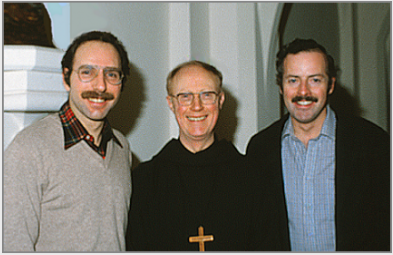Stanley Roseman, Abbot Gilbert Jones, and Ronald Davis, St. Augustine's Abbey, Kent, England, 1978. © Stanley Roseman and Ronald Davis